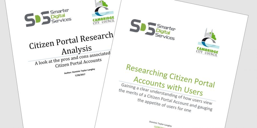 Cambridge City Council – User testing & citizen portal account research
