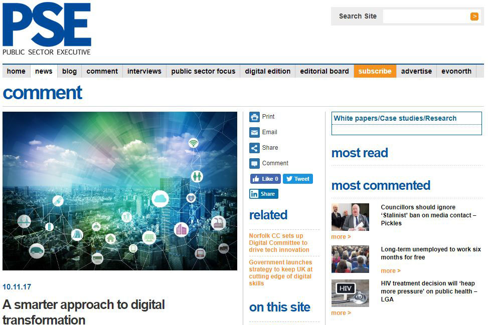 Press Release: SDS news article for the Public Sector Executive