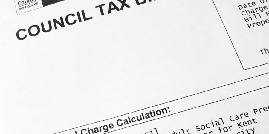 Council tax bill example
