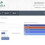 Screengrab of Sevenoaks District Council My Account page