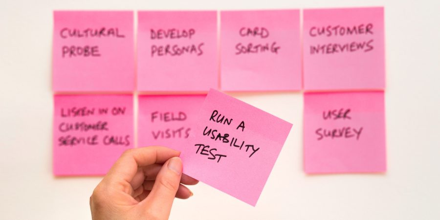 Run a Usability test post it note