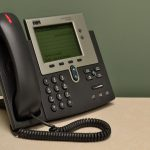 Old work-style telephone