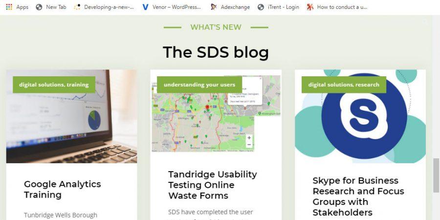 SDS website screenshot