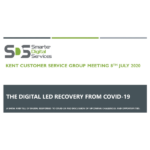 Digital led recovery from COVID-19 meeting title slide