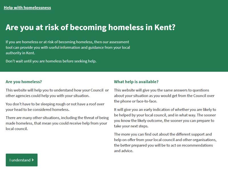 Development of the Kent Homechoice Homelessness Triage Tool